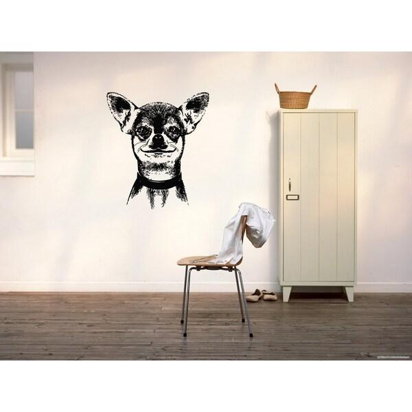 Chihuahua Dog Wall Art Sticker Decal