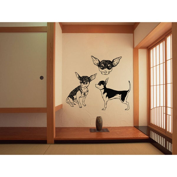 Chihuahua Dog Faces Wall Art Sticker Decal