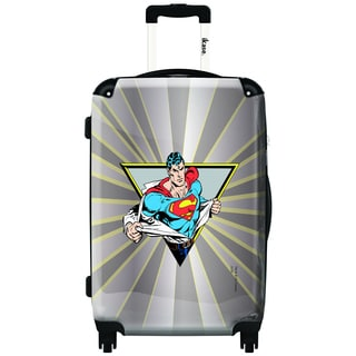 iKase Superman 'The Man of Steel' 24-inch Fashion Hardside Spinner Upright Suitcase