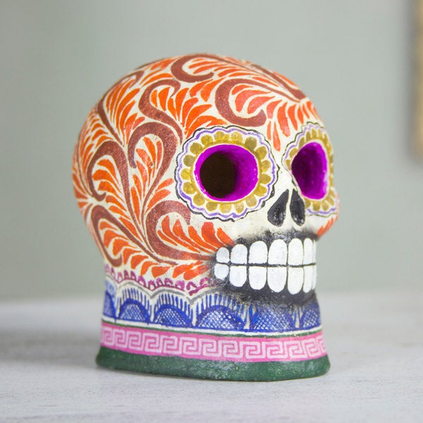 Handcrafted Ceramic 'Smile at Death' Figurine (Mexico)