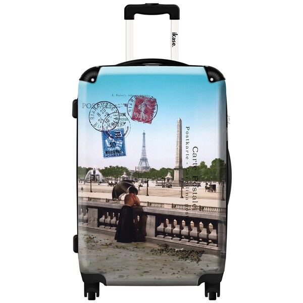 iKase Paris Bridge 24-inch Fashion Hardside Spinner Upright Suitcase