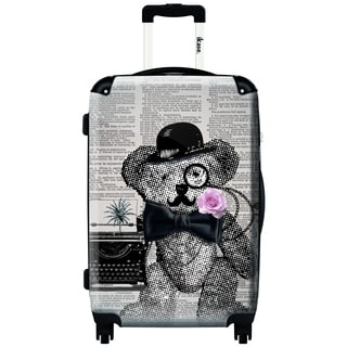 iKase Be Serious 24-inch Fashion Hardside Spinner Upright Suitcase