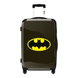 iKase Batman Black Logo 24-inch Fashion Hardside Spinner Upright Suitcase
