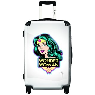 iKase Wonder Woman Portrait 24-inch Fashion Hardside Spinner Upright Suitcase
