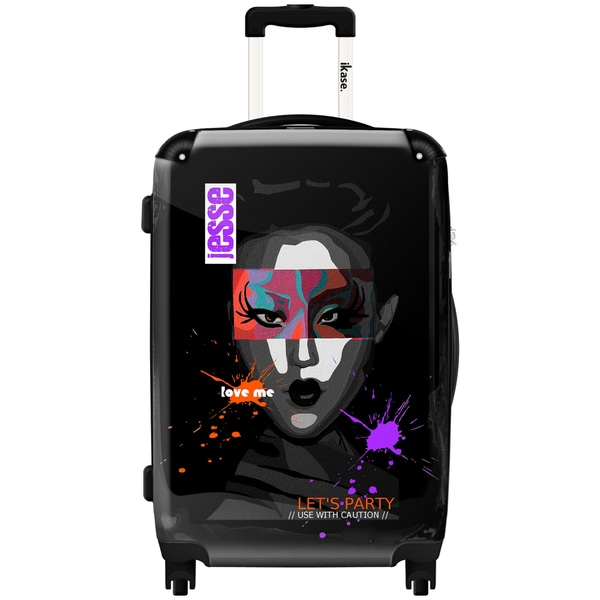 iKase Tokyo Decadence 'Let's Party' 24-inch Fashion Hardside Spinner Upright Suitcase