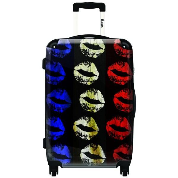 iKase Lips 24-inch Fashion Hardside Spinner Upright Suitcase