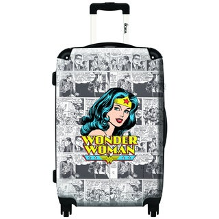 iKase Wonder Woman News 24-inch Fashion Hardside Spinner Upright Suitcase