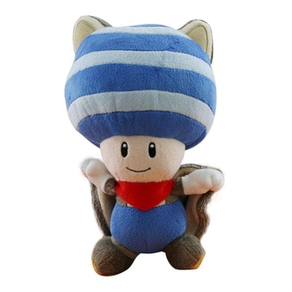 Nintendo 8-inch Blue Super Mario Flying Squirrel Toad Cute Soft Plush Toy