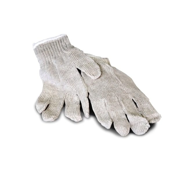 Men's Standard String Knit Cotton Work Gloves - (case of 12 Pair) Medium