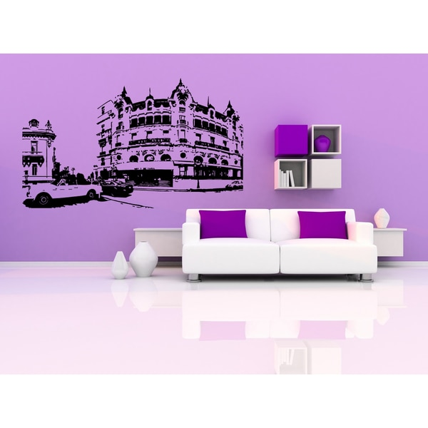 Monaco City Street Car Wall Art Sticker Decal