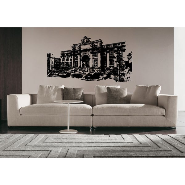 Rome Skyline City Ancient Buildings Wall Art Sticker Decal