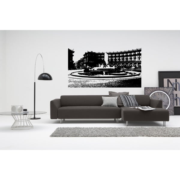Rome Skyline City Fountain Area Wall Art Sticker Decal
