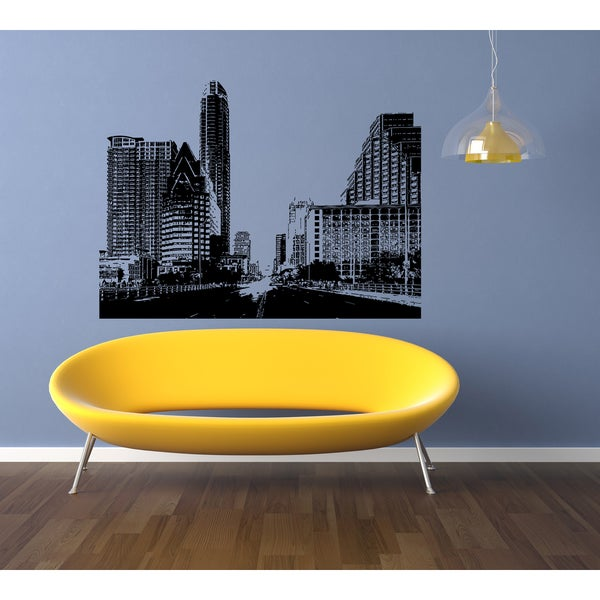 Austin City Skyscraper Wall Art Sticker Decal