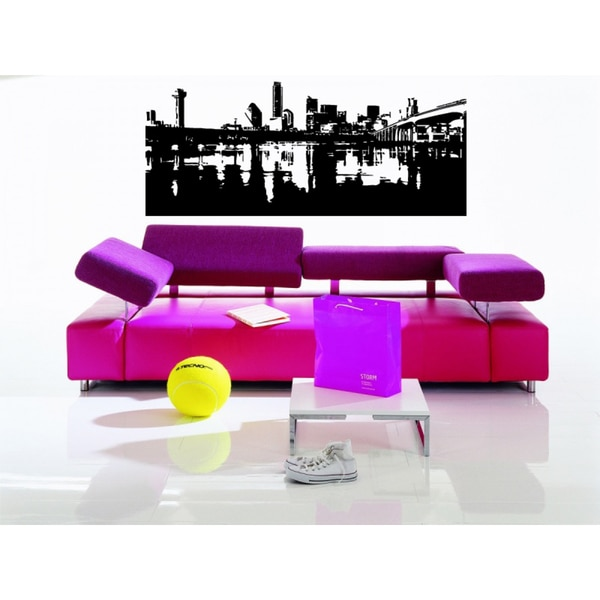 Phoenix City Bridge River Wall Art Sticker Decal