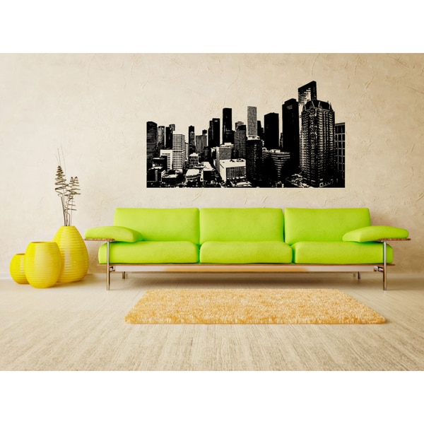 Houston City City of High Houses Wall Art Sticker Decal
