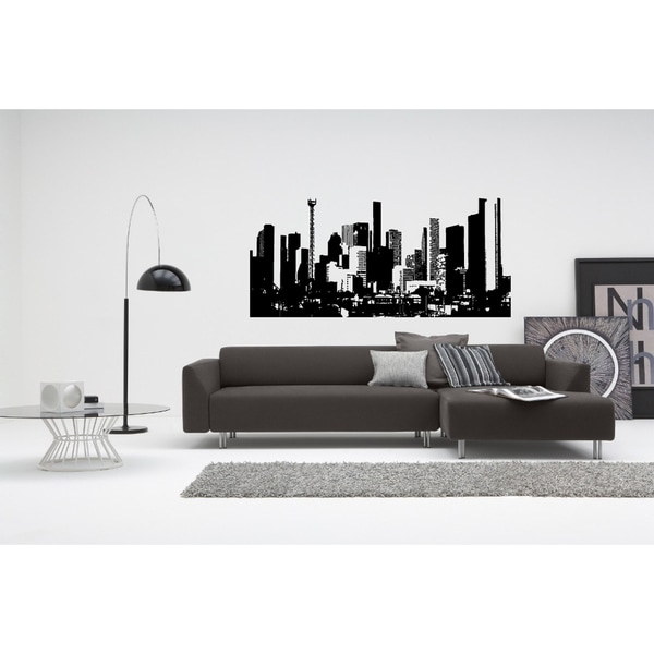 Houston Day City Wall Art Sticker Decal
