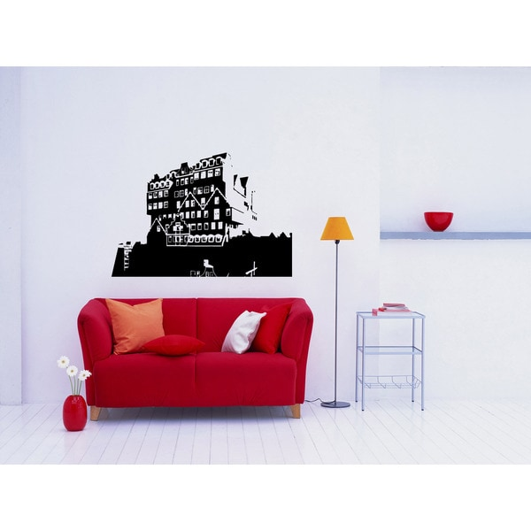 Amsterdam city Water Wall Art Sticker Decal