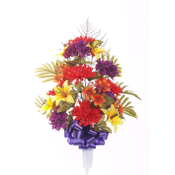 27-inch Purple Mixed Mum Vase Arrangement