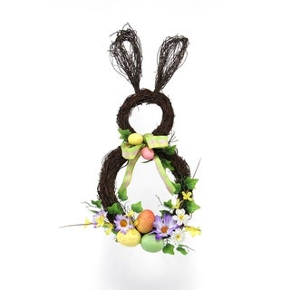 Spring Collection 21-inch Bunny Wreath