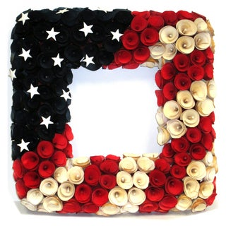 Americana Collection 20-inch Square Wreath