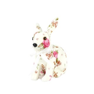 Spring Collection 10-inch Floral Print Bunny