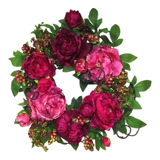 Blossom Collection 20-inch Peony Wreath