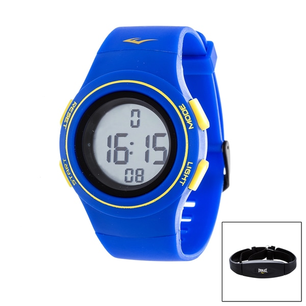 Everlast Blue HR6 Heart Rate Monitor Watch with Transmitter Belt