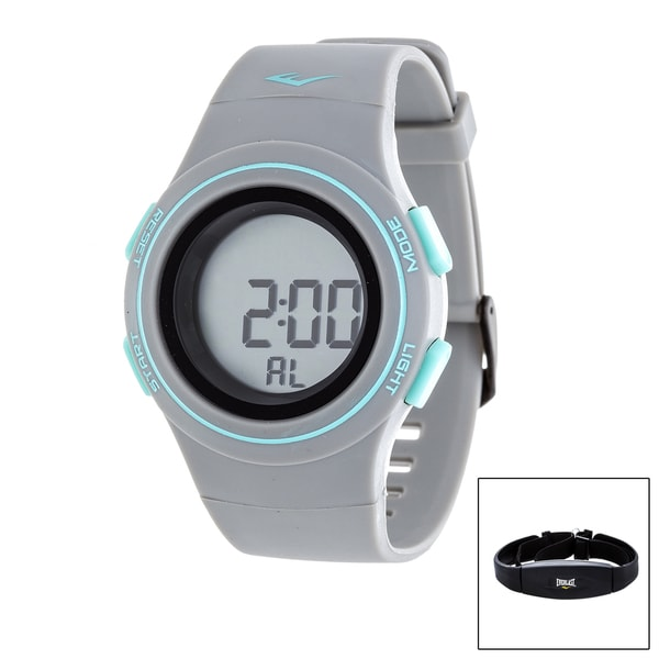 Everlast Grey HR6 Heart Rate Monitor Watch with Transmitter Belt