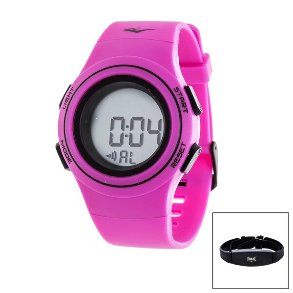 Everlast Pink HR6 Heart Rate Monitor Watch with Transmitter Belt