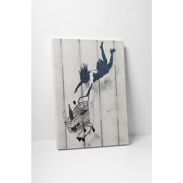 Banksy 'Shop Till You Drop' Gallery Wrapped Canvas Wall Art