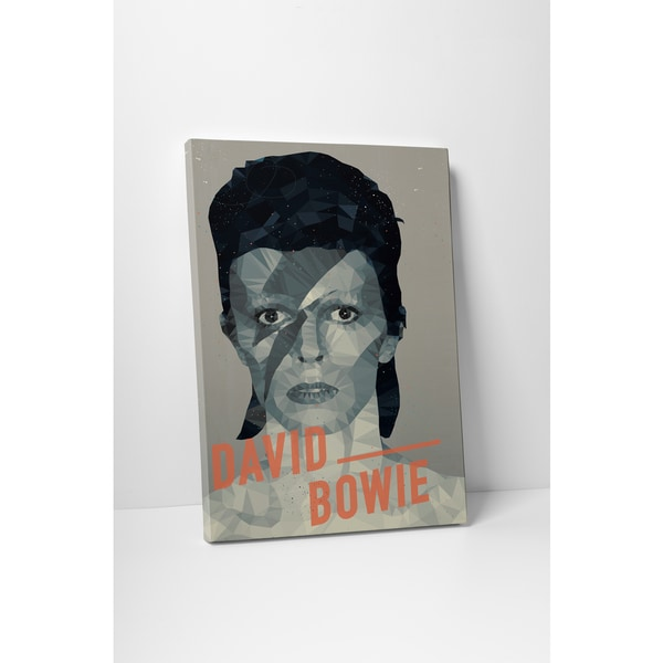 American Flat 'David Bowie' Gallery Wrapped Canvas Wall Art