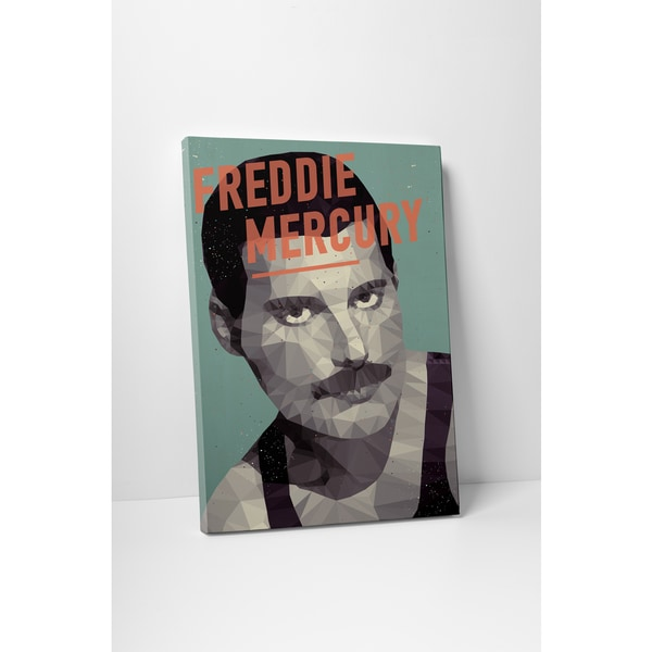 American Flat 'Freddie Mercury' Gallery Wrapped Canvas Wall Art