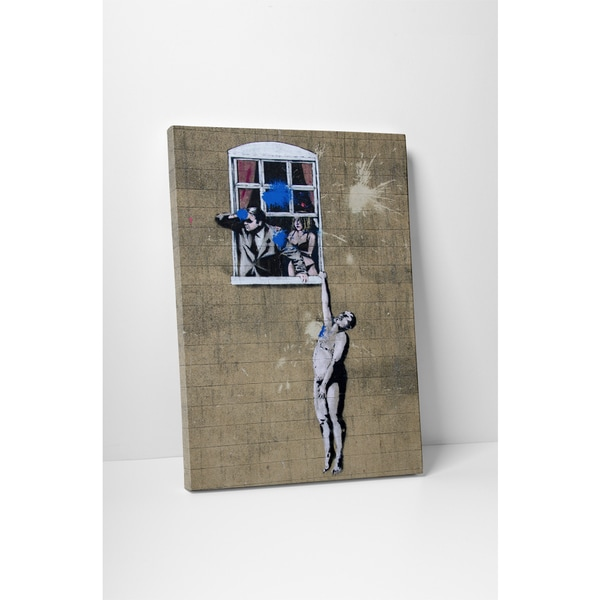 Banksy 'Naked Man' Gallery Wrapped Canvas Wall Art