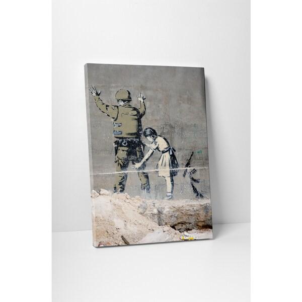 Banksy 'Graffiti in Bethlehem' Gallery Wrapped Canvas Wall Art