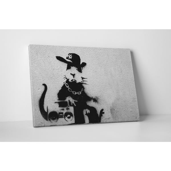 Banksy 'Boom Box Rat' Gallery Wrapped Canvas Wall Art 17469388