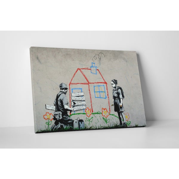 Banksy 'Boarded Up' Gallery Wrapped Canvas Wall Art