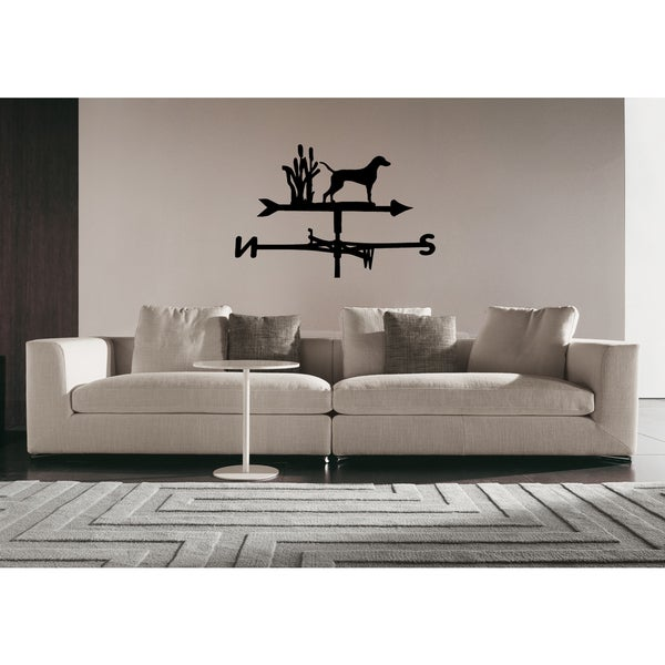 Weimaraner Dog Direction of the wind Wall Art Sticker Decal