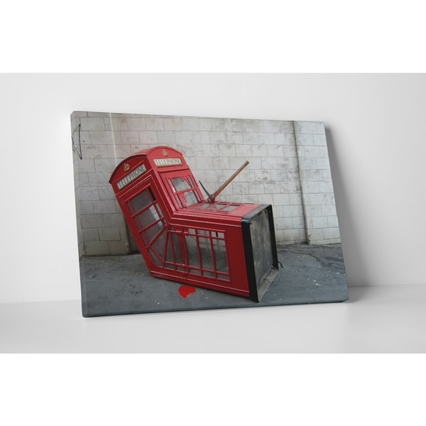 Banksy 'Death of a Phone Booth' Gallery Wrapped Canvas Wall Art