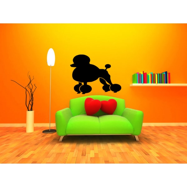 Poodle Dog Exhibition Wall Art Sticker Decal