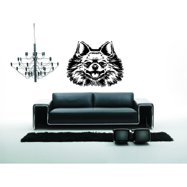 Pomerani Dog Muzzle Wall Art Sticker Decal