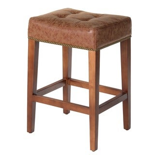 Nashville Vintage Leather 26-inch Nailhead Counter Stool
