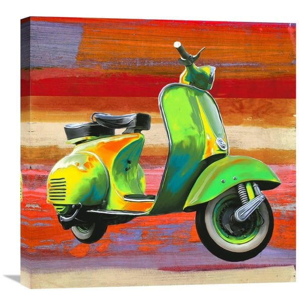 Big Canvas Co. Teo Rizzardi 'Pop Scooter I' Stretched Canvas Artwork