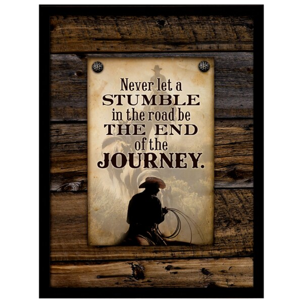 Dexsa Simple Expressions Never Let A Stumble Framed Plaque
