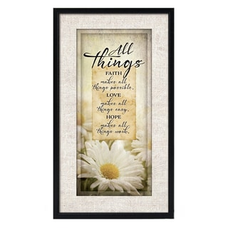 Dexsa Simple Expressions All Things Framed Plaque