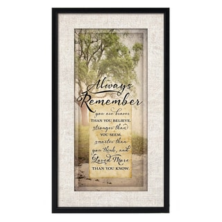 Dexsa Simple Expressions Always Remember Framed Plaque