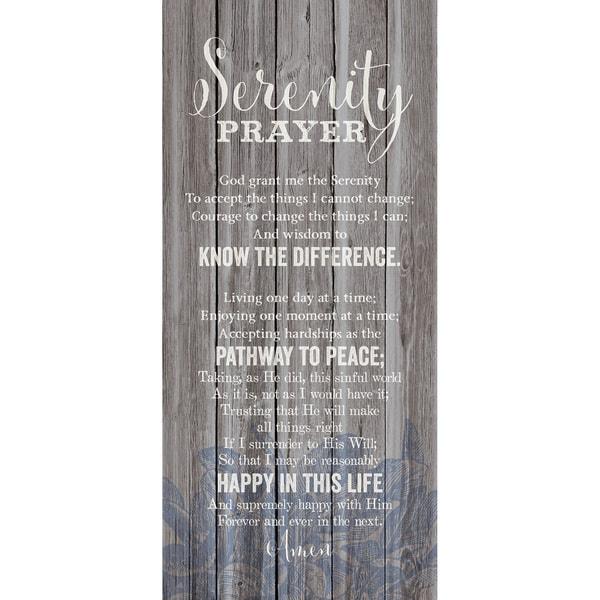 Dexsa Serenity Prayer New Horizons Wood Plaque