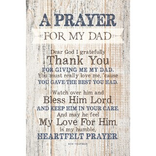 Dexsa Prayer For My Dad New Horizons Wood Plaque with Easel