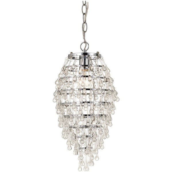 Clear Crystal Teardrop Chandelier
