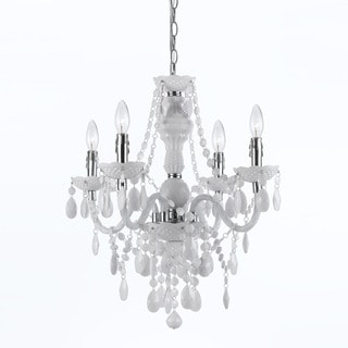 Naples White 4-light Mini Chandelier