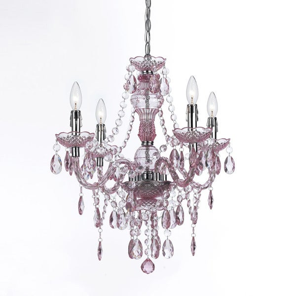 Naples Pink 4-light Mini Chandelier